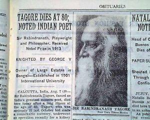 Tagore dies