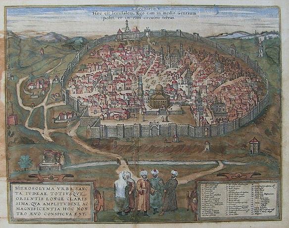 A walled city( jerusalem)