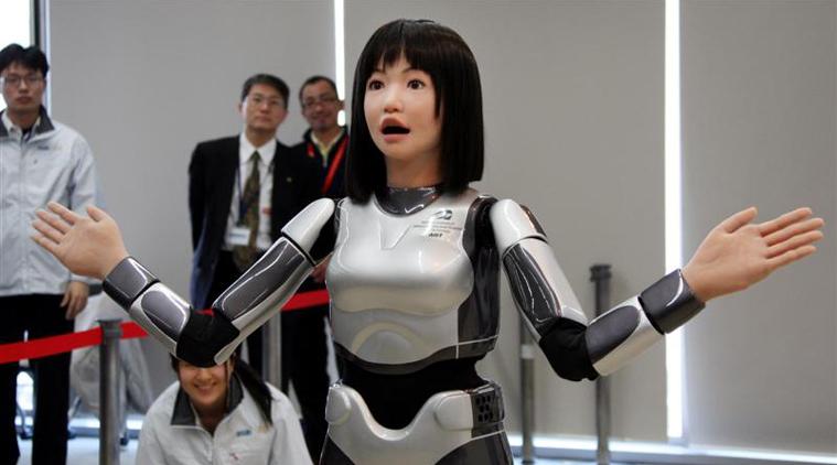robot staffed hotel