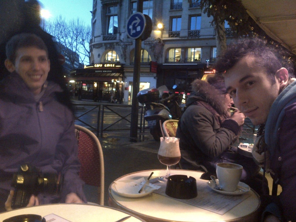 Paris cafe life by d e clark
