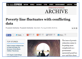 The Indian Express-Poverty Line fluctuates with conflicting data