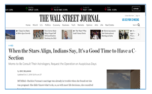 The wall street journal-When the stars align, it's a good time