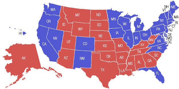 Astrology And Politics US Presidential General Election Live - 2016 us map vote
