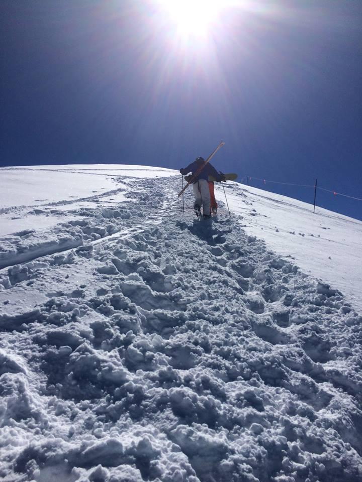 ski against the sun